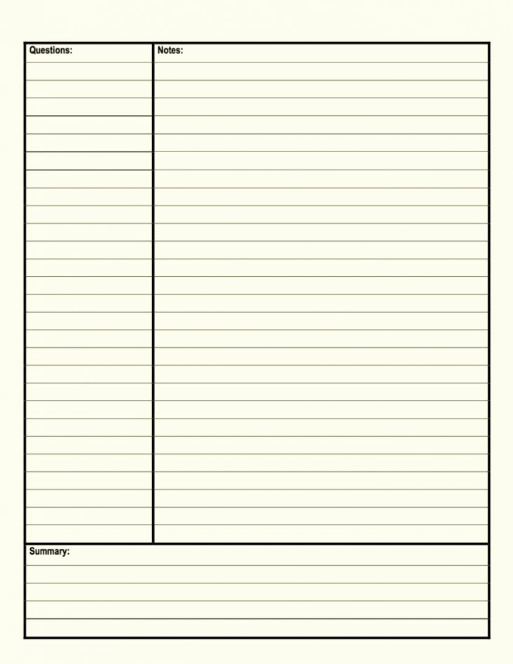 Cornell Note Template Word Beautiful Cornell Notes Template Word Doc Enote