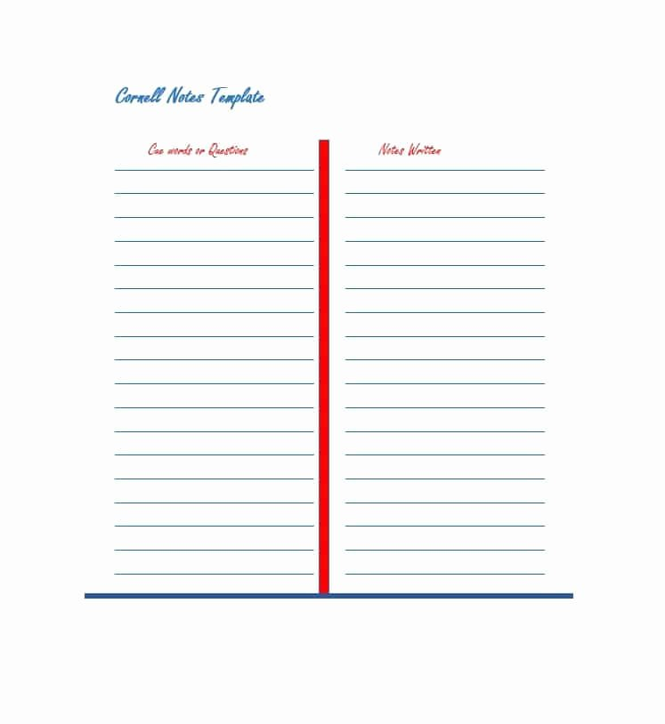 Cornell Notes Template Download Fresh 36 Cornell Notes Templates & Examples [word Pdf]