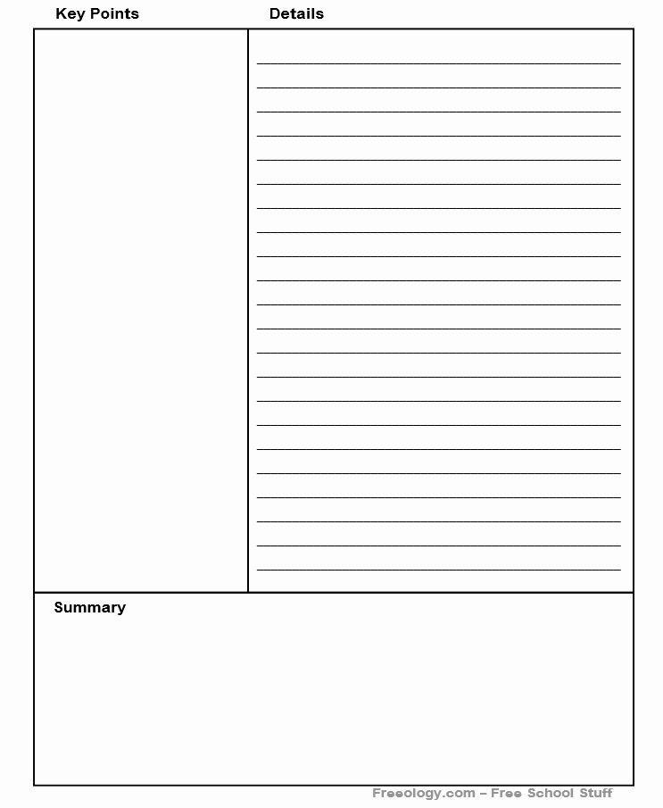 Cornell Notes Template Pdf Best Of Cornell Note Taking Method Custom Pdf Generator Point