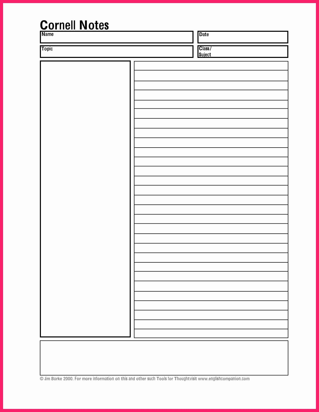 Cornell Notes Template Pdf Best Of Cornell Notes Template Pdf
