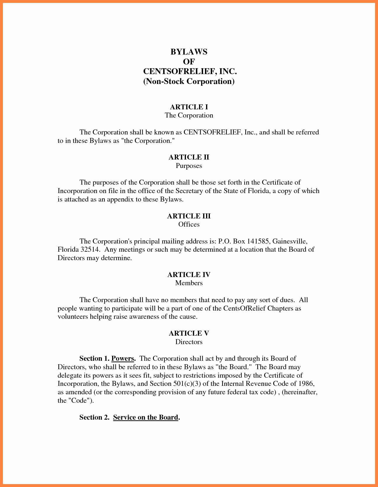 Corporate bylaws Template Free Awesome 9 Pany bylaws Template