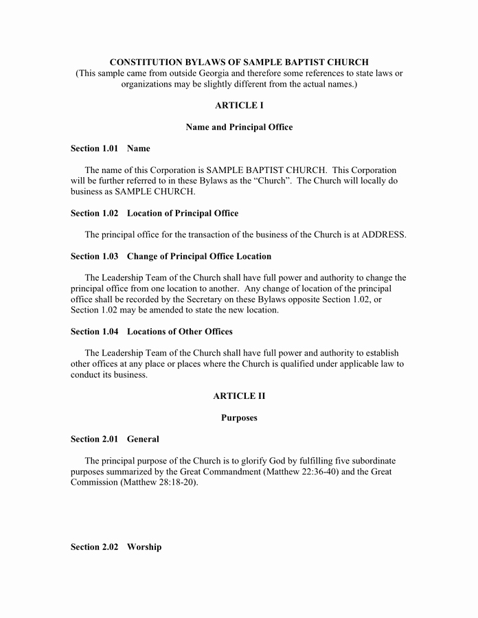 Corporate bylaws Template Free Elegant bylaws Template Printable Word Pdf Free Download