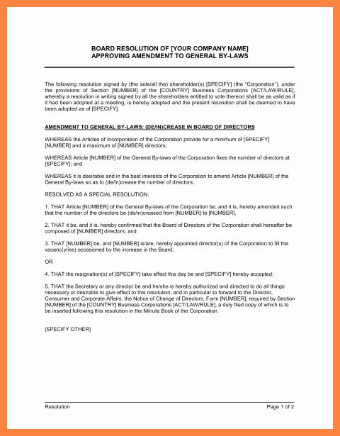 Corporate bylaws Template Free Fresh 9 Pany bylaws Template