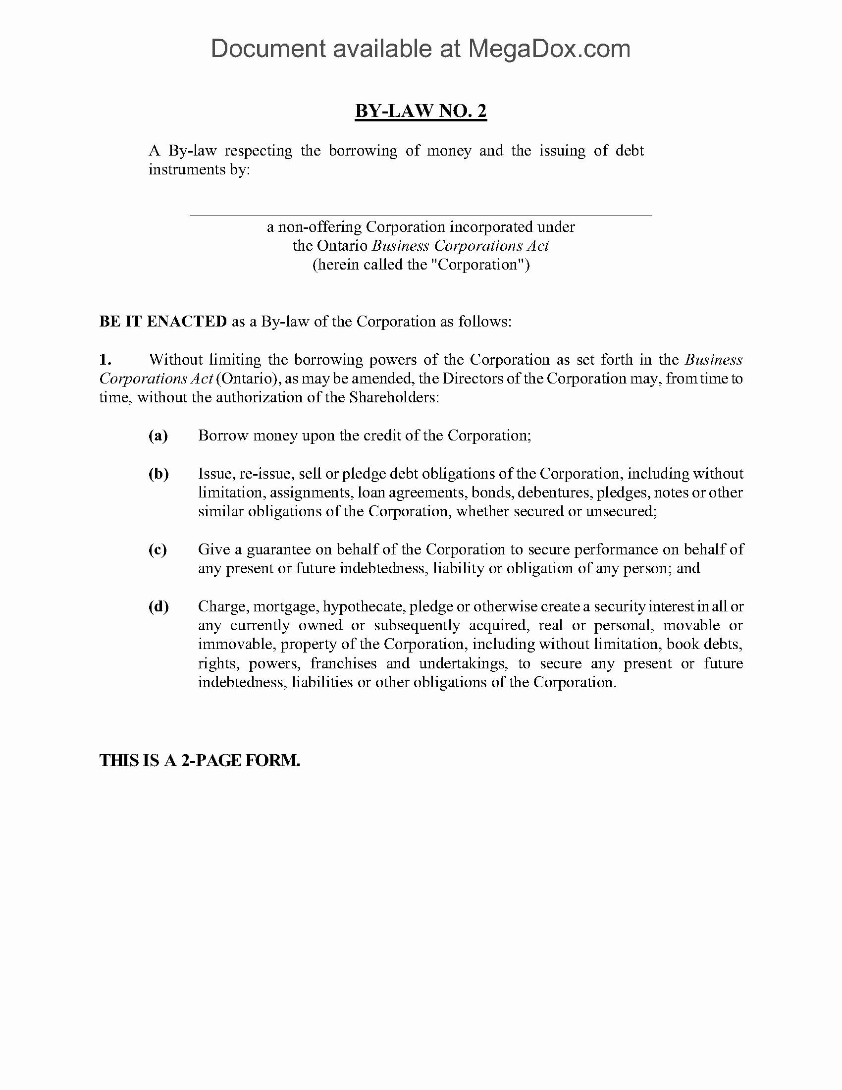 Corporate bylaws Template Free Lovely Corporation bylaws Template Canada Templates Resume