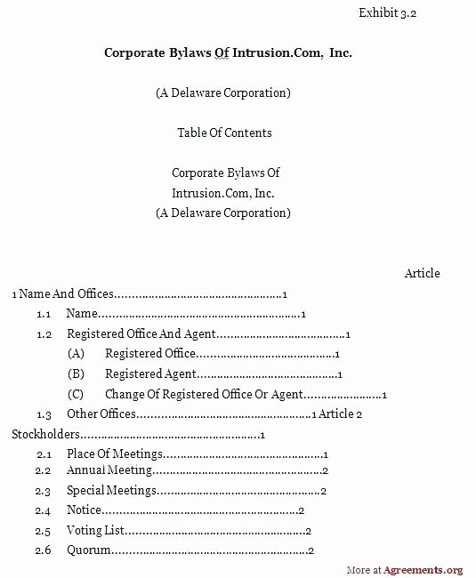 Corporate bylaws Template Pdf Inspirational Corporate bylaws Template Pdf 2 Free Pany Questionnaire