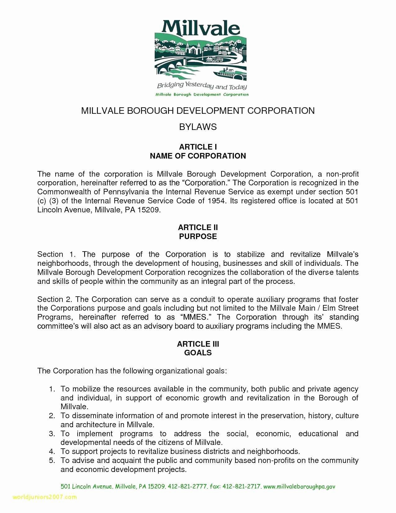 Corporate bylaws Template Pdf Inspirational Inspirational Pany bylaws Template Pdf