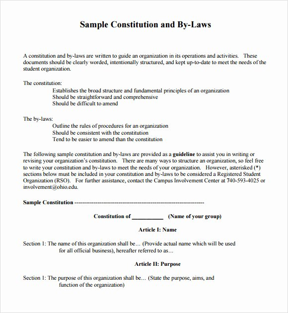 Corporate bylaws Template Word Awesome 7 bylaws Templates