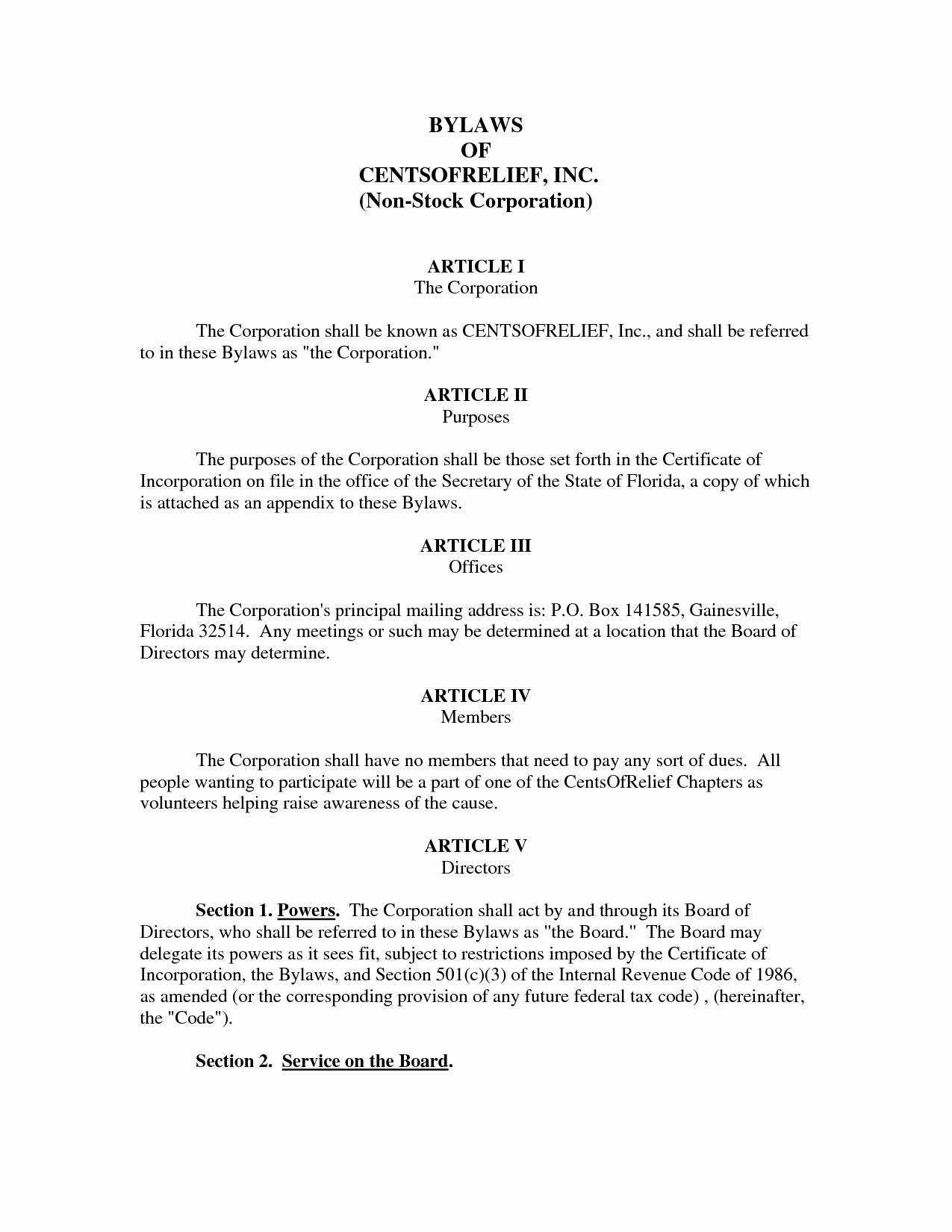 Corporate bylaws Template Word Elegant Best S Of bylaws for Corporation Template Divorce