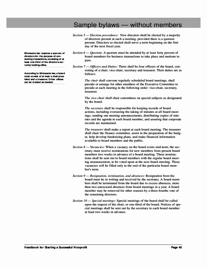 Corporate bylaws Template Word Luxury New Non Profit bylaws Template Free – Free Template Design