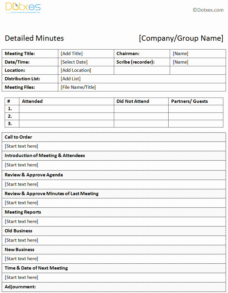 Corporate Minutes Template Pdf Fresh Meeting Minutes Template