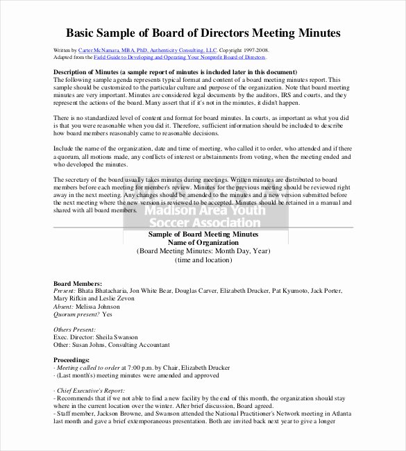 Corporate Minutes Template Pdf Inspirational 26 Minutes Templates Word Excel Pdf