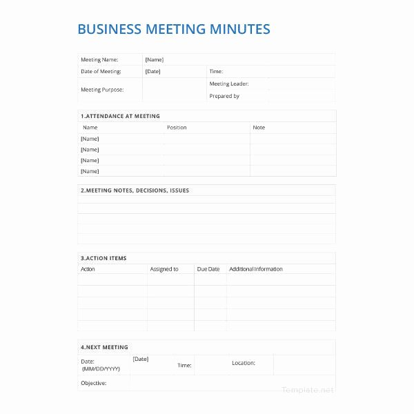Corporate Minutes Template Pdf Lovely 21 Meeting Minutes Templates Pdf Doc