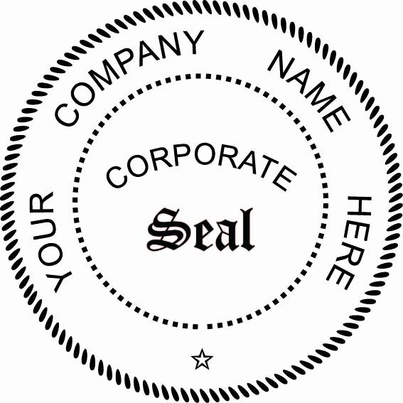 "Corporate Seal Template Word Unique Pocket Seal 1 75"" Corporate Seal"