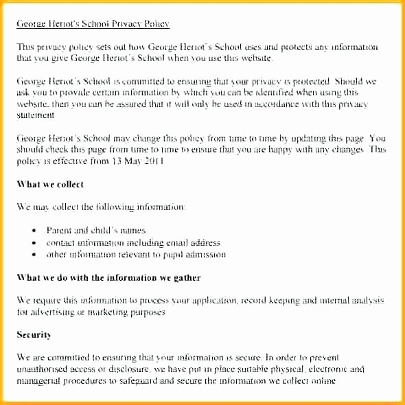 Corporate Security Policy Template Beautiful Email Security Policy Template Return Policy Template