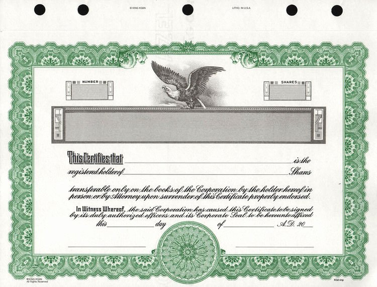 Corporate Stock Certificate Template Beautiful Kg2 Corporate Stock Certificates Free Shipping