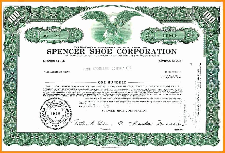 Corporate Stock Certificate Template Best Of Corporation Stock Certificate Printable Corporate