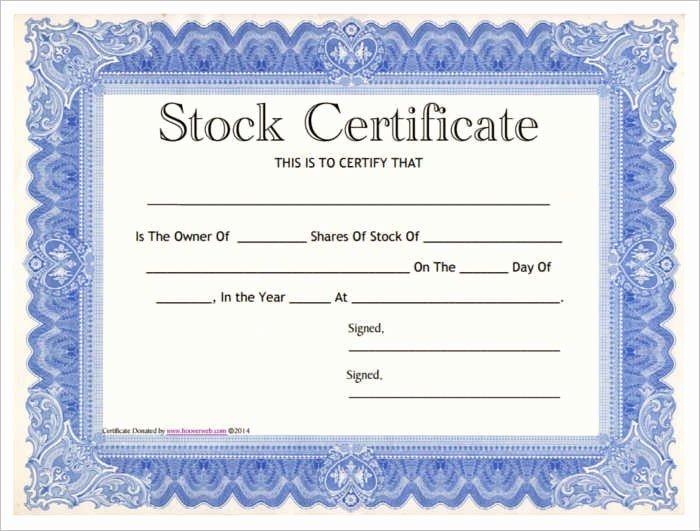 Corporate Stock Certificate Template Fresh Stock Certificates Template