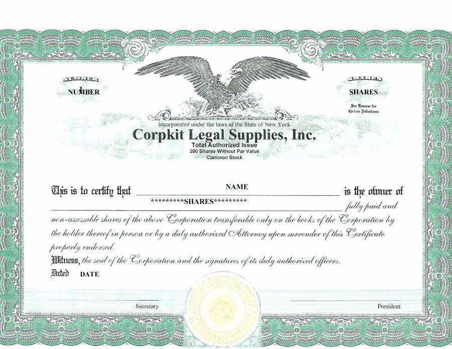 Corporate Stock Certificate Template Lovely Free Pany Share Certificate Template – Rightarrow