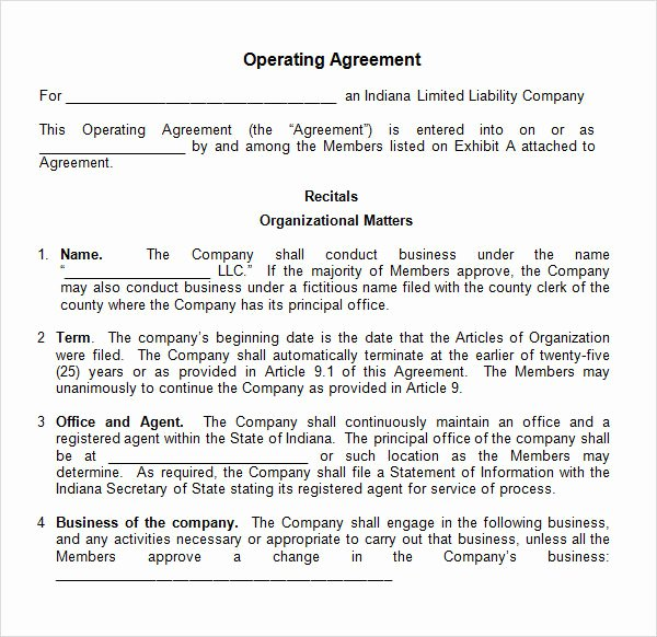 Corporation Operating Agreement Template Inspirational 8 Sample Operating Agreement Templates to Download
