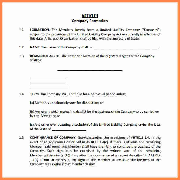 Corporation Operating Agreement Template Lovely 4 Corporation Operating Agreement Template