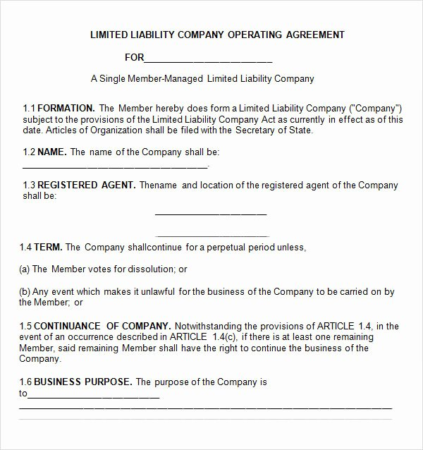 Corporation Operating Agreement Template Lovely 8 Sample Operating Agreement Templates to Download