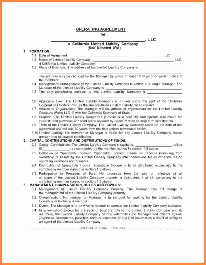 Corporation Operating Agreement Template Luxury 6 Internal Service Level Agreement Template