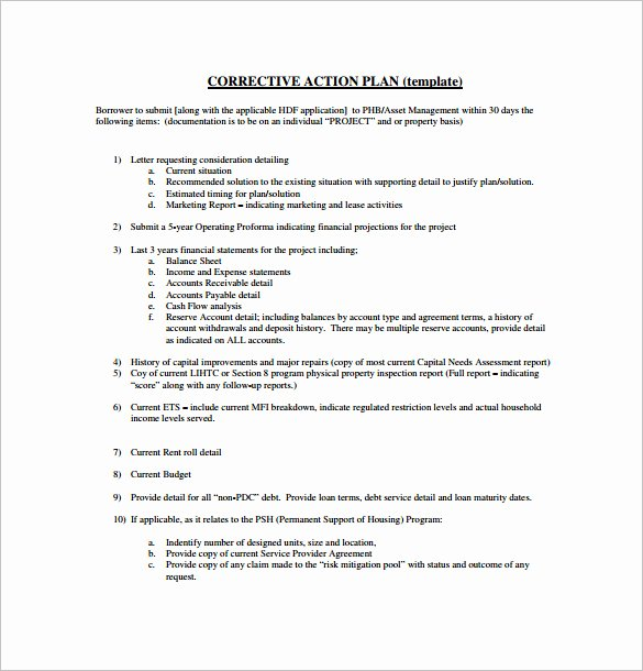 Corrective Action Plan Template Beautiful Excel Corrective Action Plan Template Employee Action
