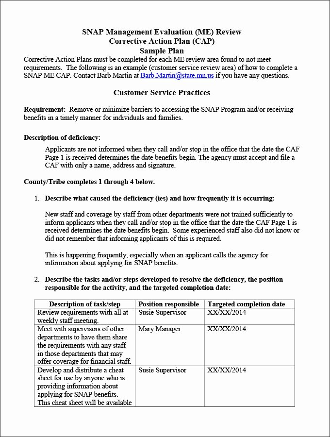 Corrective Action Plan Template New Corrective Action Plan Template 25 Free Word Excel Pdf