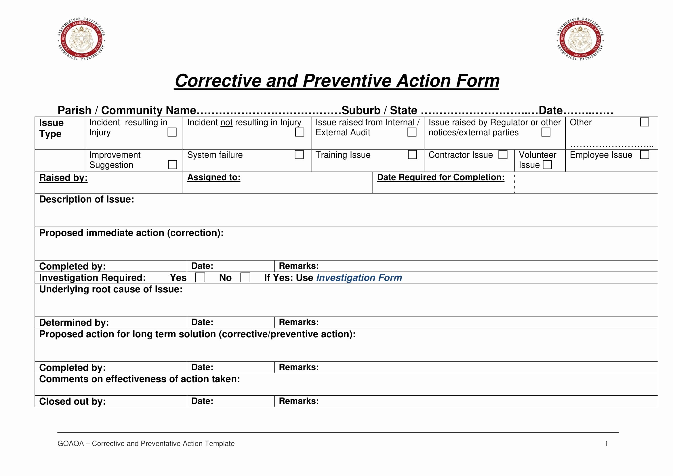 Corrective Action Report Template Awesome 12 Corrective Action Report Examples Pdf
