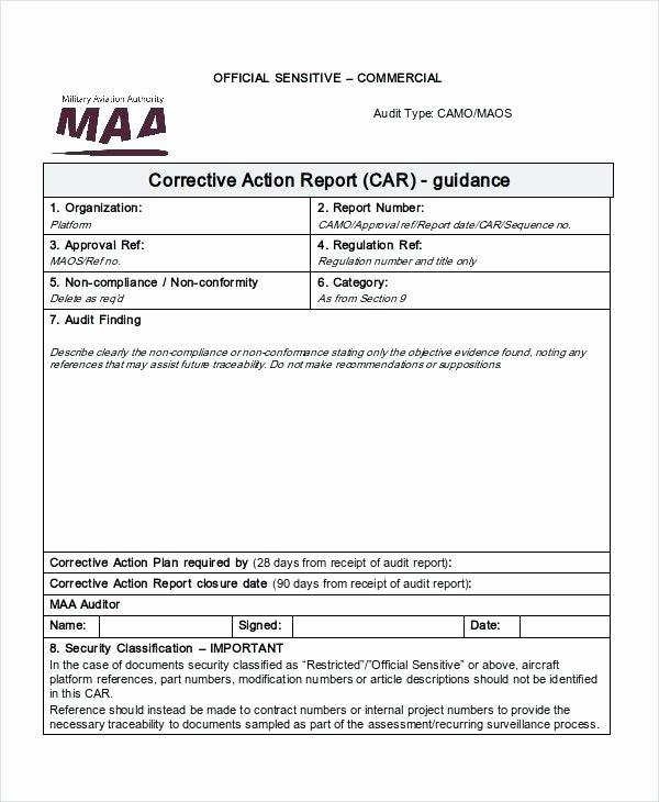 Corrective Action Report Template Unique 8d Corrective Action Report Template Excel – Guatemalago