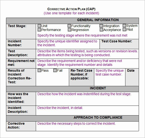 Corrective Action Template Word Awesome Sample Action Plan Template 9 Free Documents In Pdf