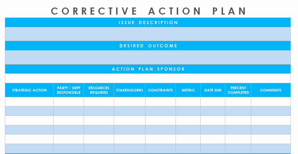 Corrective Action Template Word Lovely Get Corrective Action Plan Template Excel Microsoft