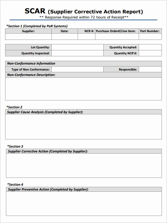 Corrective Action Template Word New 8 Corrective Action Report Templates – Free Word Pdf