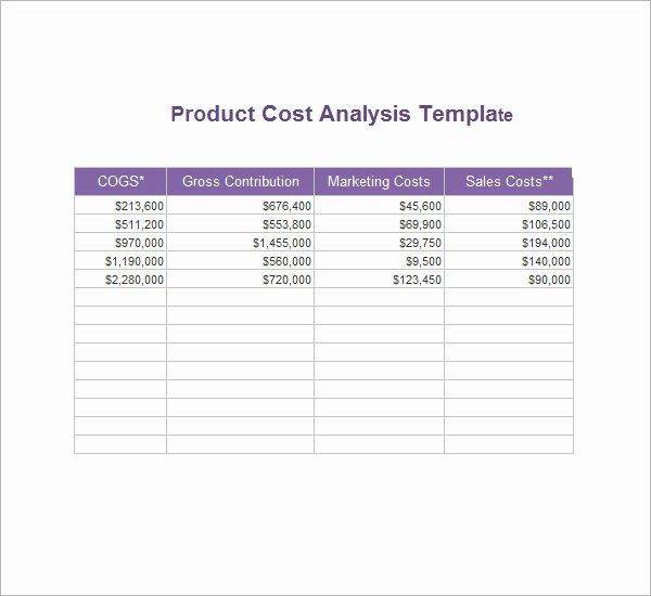Cost Analysis Excel Template Best Of Cost Analysis Template 8 Download Free Documents In Pdf