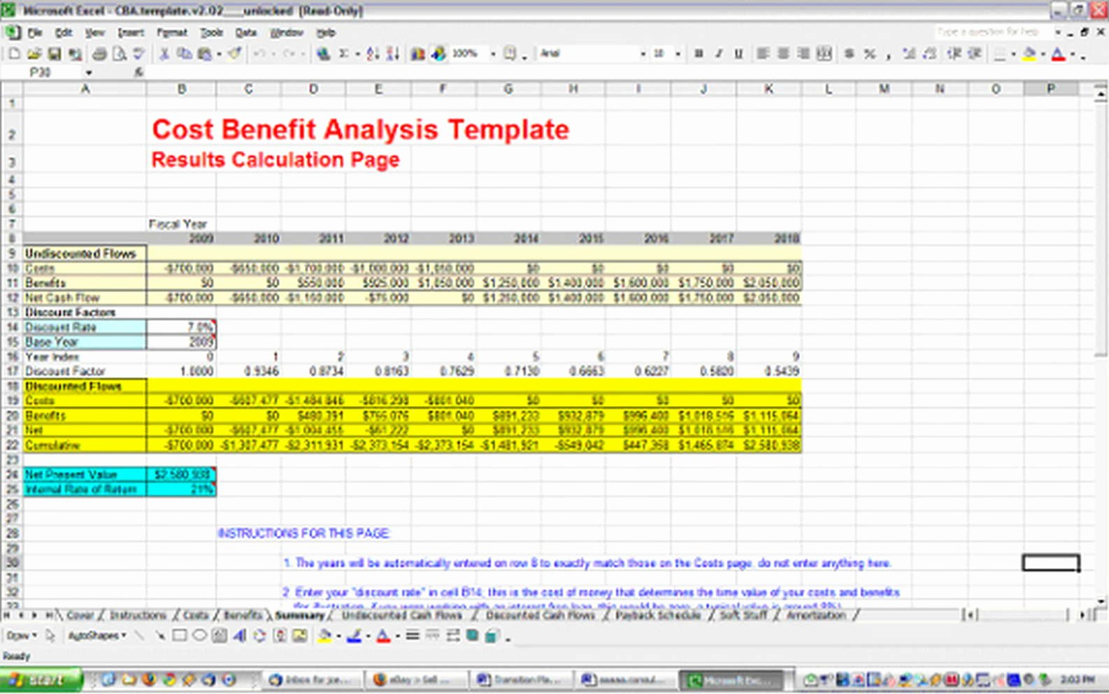 Cost Analysis Excel Template Fresh Cost Benefit Analysis Template
