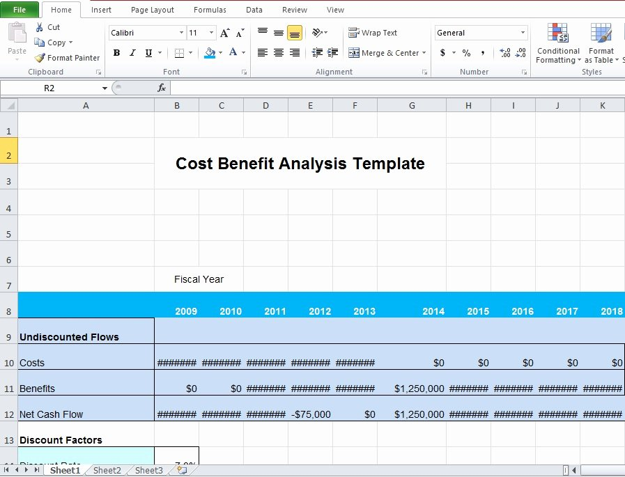 Cost Analysis Template Excel Luxury Download Business Cost Benefit Analysis Template for