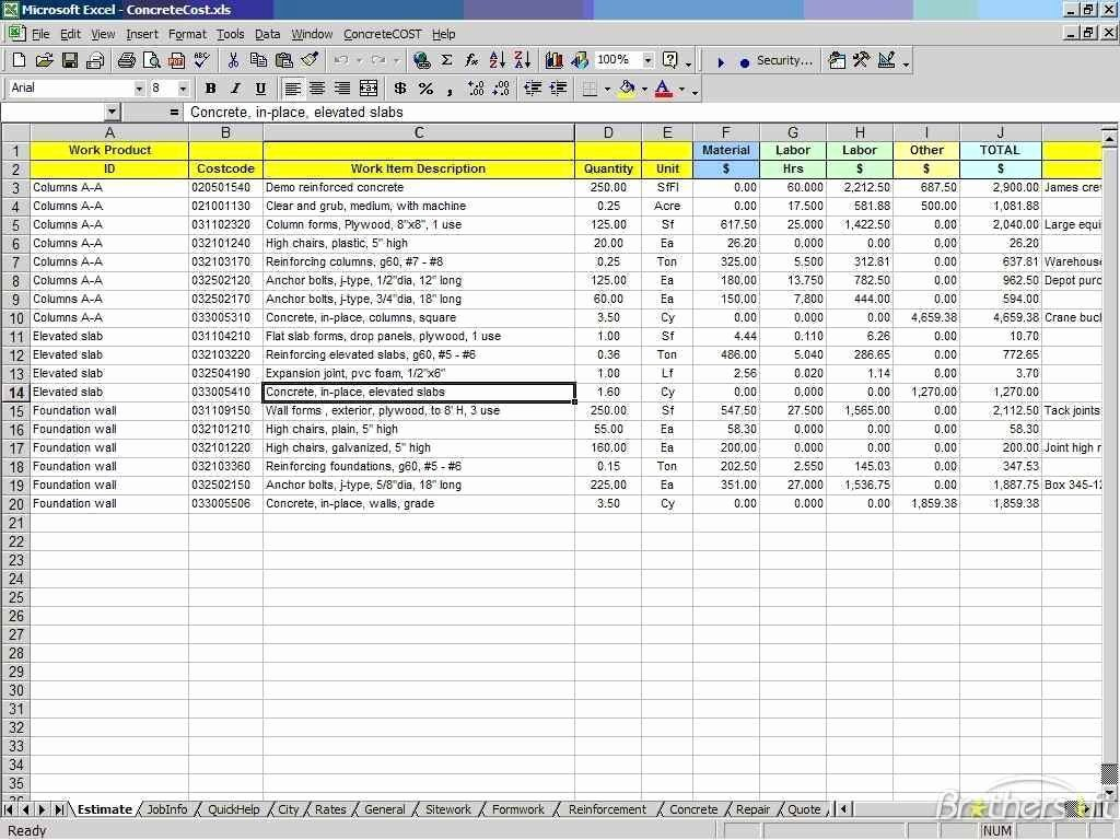 Cost Estimate Template Excel Awesome Cost Estimate Spreadsheet Excel Cost Estimate Spreadsheet