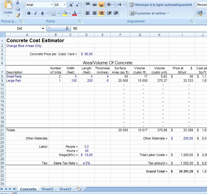 Cost Estimate Template Excel Lovely Project Cost Estimate Template Excel Estimate