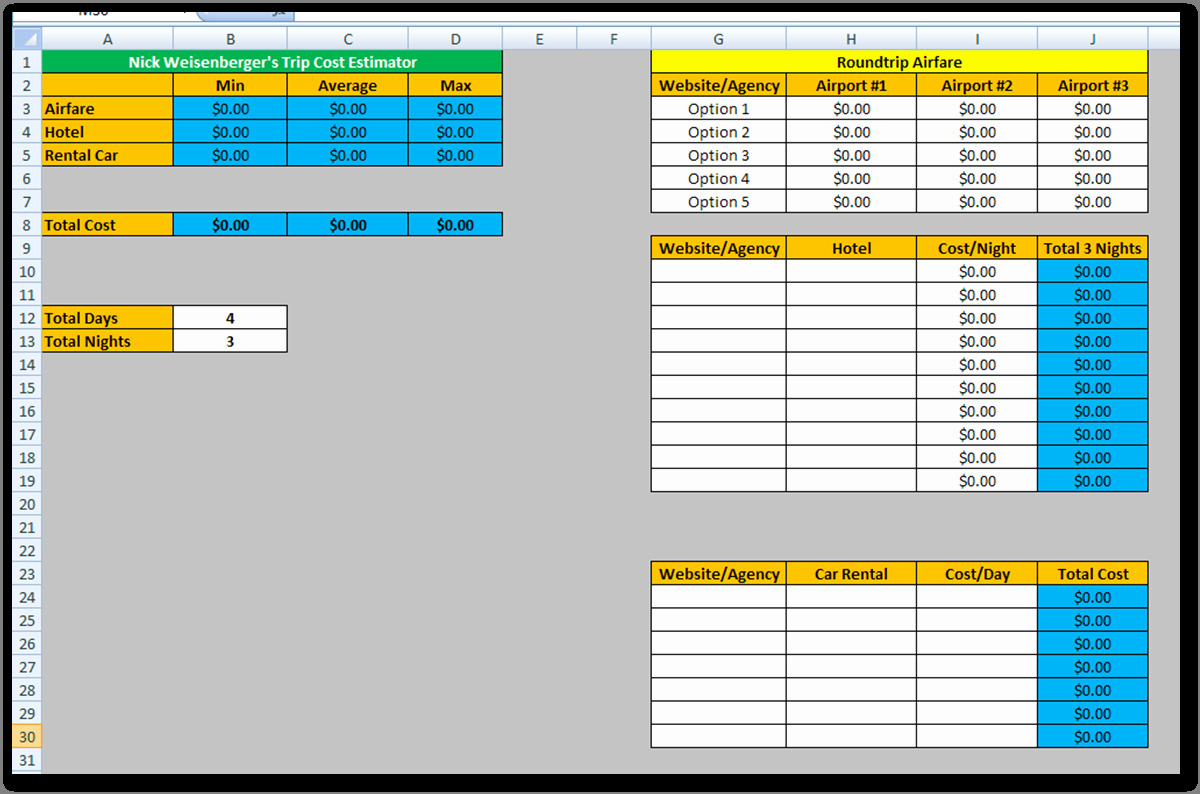 Cost Estimate Template Excel Luxury Estimating Spreadsheet Template Spreadsheet Templates for