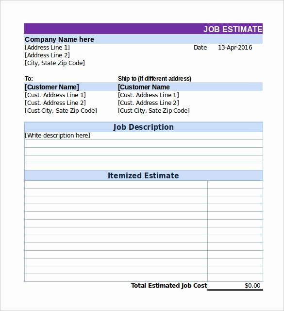 Cost Estimate Template Excel Unique Excel Cost Estimate Template Best Photos Of Construction