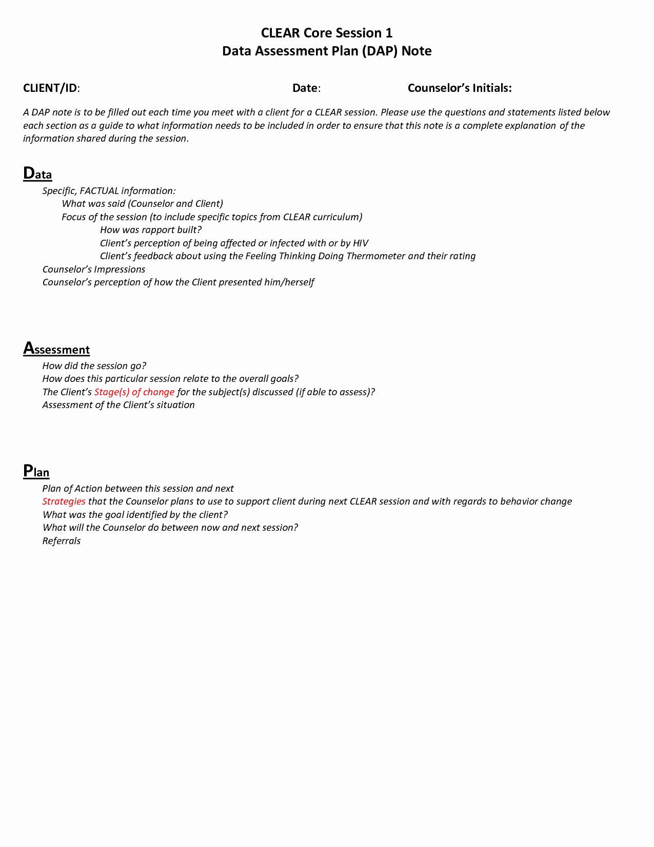Counseling Case Notes Template Beautiful Dap Counseling Notes Template