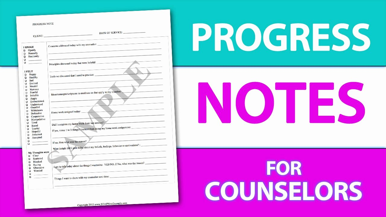 Counseling Progress Notes Template Awesome Write Progress Notes the Easy Way Using A Progress Note