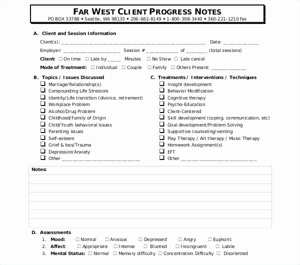 Counseling Progress Notes Template Best Of Counseling Progress Notes Template – Shimix