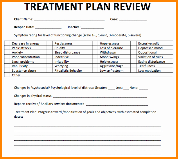 Counseling Treatment Plan Template Unique 18 Counseling Treatment Plan Template