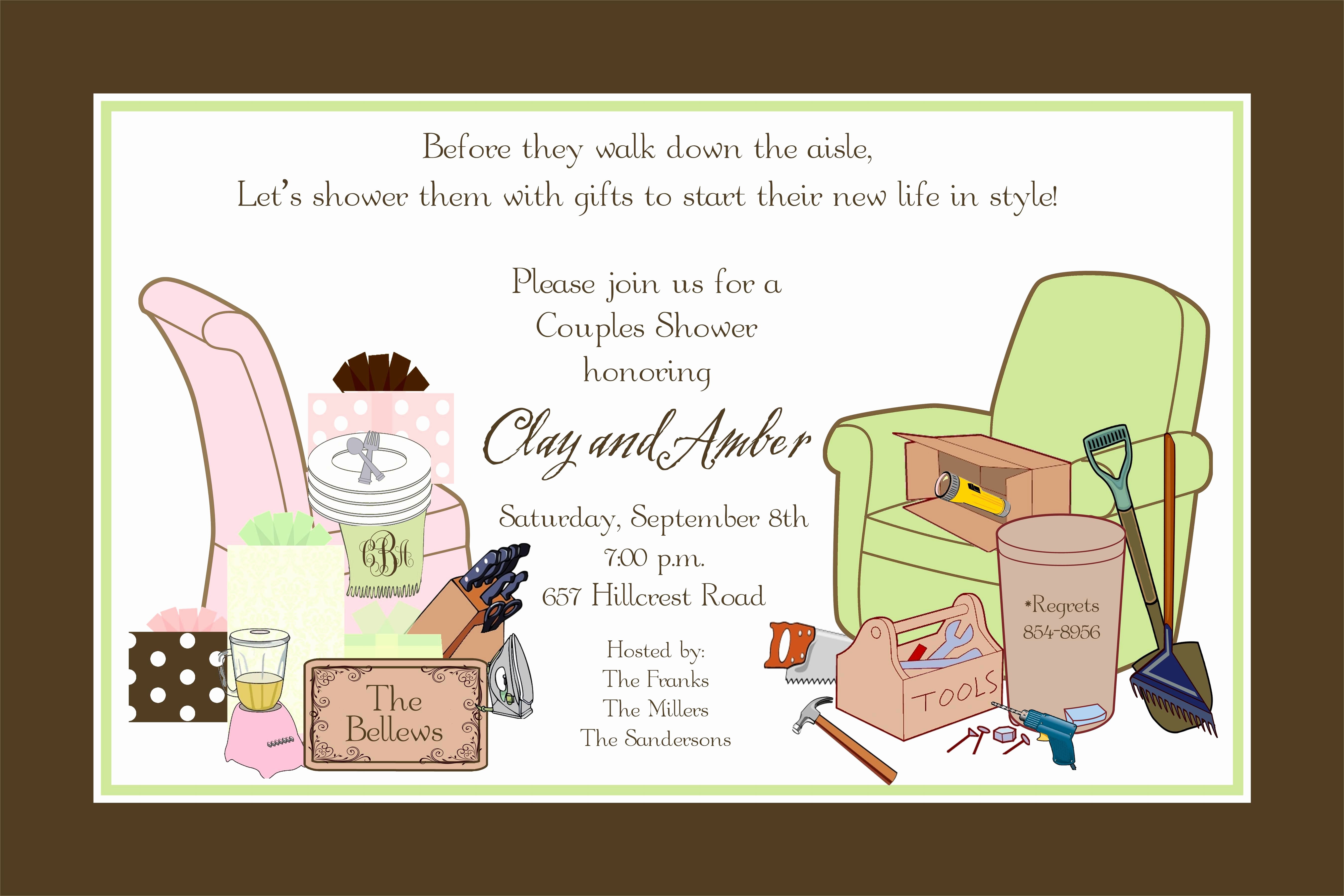 Couples Shower Invitations Template Awesome Bridal Shower Couples Wedding Shower Invitations Card