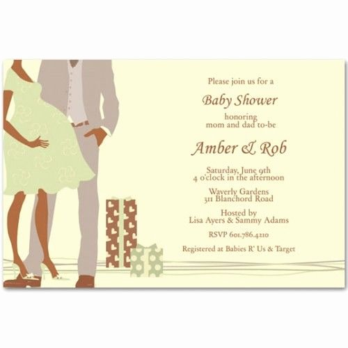 Couples Shower Invitations Template Beautiful African American Baby Shower Invitations