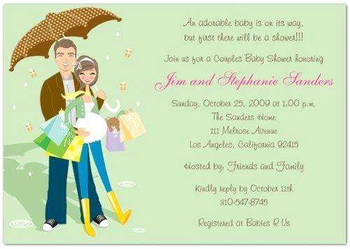 Couples Shower Invitations Template Fresh Couple Baby Shower Invitation Wording