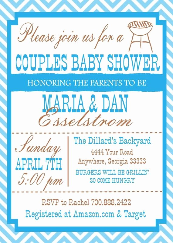 Couples Shower Invitations Template Fresh Items Similar to Couple Baby Shower Invitation On Etsy