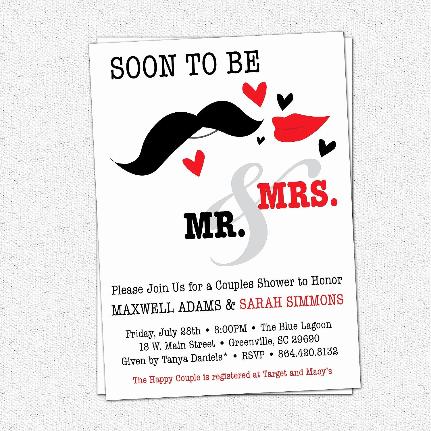 Couples Shower Invitations Template Lovely Couples Wedding Shower Invitations Templates Free M