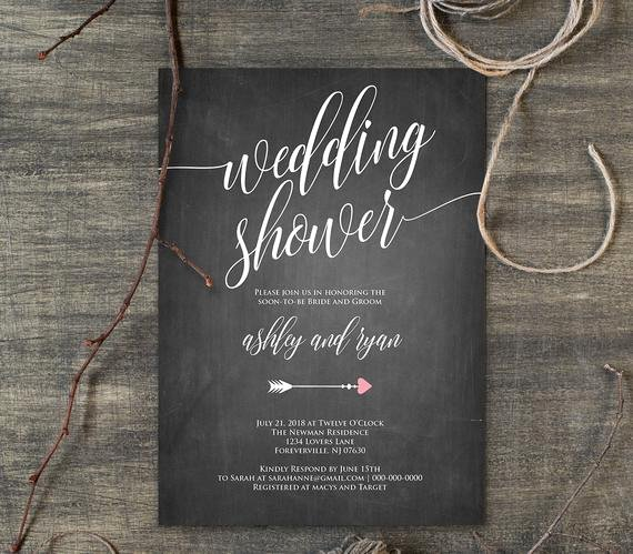 Couples Shower Invitations Template Lovely Wedding Shower Template Couples Shower Invitation Instant